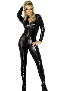 Disfraz Carnaval Traje de látex negro Sexy Halloween Carnaval