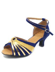 Zapatos de bailes latinos de felpa de moda