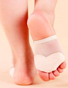Танцевальная обувь белый эластичной ткани