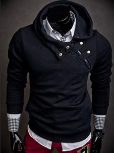 Черная толстовка с капюшоном с длинным рукавом с капюшоном
