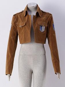 Нападение на Титан Эрен Jaeger Леви косплей костюм Shingeki не Kyojin обследование корпуса разведчик полк куртка косплей костюм Хэллоуин