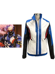 Carnevale Overwatch OW 76 soldato Carnevale Cosplay Costume 76 soldato Cosplay uniforme giacca Carnevale