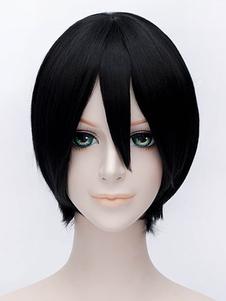 Você não ouviu que estou Sakamoto Sakamoto Desu Ga Sakamoto Cospplay peruca peruca preta curta Cosplay Cosplay peruca Halloween