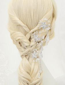 Flores, gancho de cabelo Rhintone Metal 3 peças acessórios nupciais do casamento