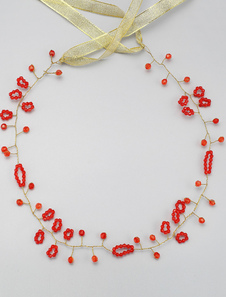 Casamento vermelho Headpieces concisa da liga tiara nupcial