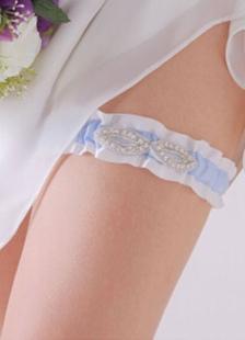 Casamento azul liga tecido de cetim strass noivas decoração acessórios
