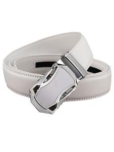 Мужская бизнес белый/черный пояс автоматические пряжки пояса