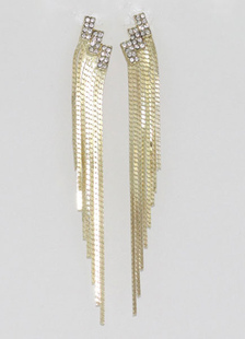 ファッション耳飾り ドロップ耳飾り 宝石無し 合金 ヨーロッパスタイル パーティー レイヤード