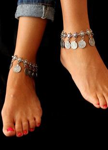 Монета Винтаж богемной браслет Цепочки на ногу