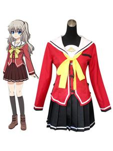 Carnaval Charlotte Tomori Nao uniforme escolar de traje de Cosplay Halloween Halloween