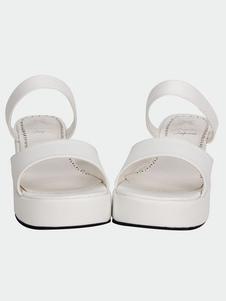 Lolita blanco mate plataforma sandalias zapatillas