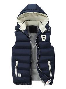 الرجال سترة معطف معطف أزرق داكن شتاء معطف هوديي أكمام مبطن 2020