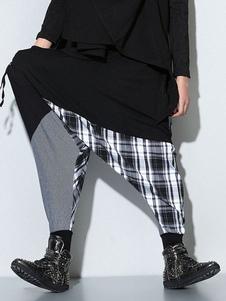 Entrepierna harén pantalones pantalones de baile de la gota para los hombres