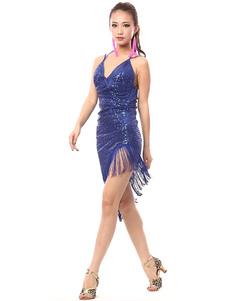 7a874c1d82fa Blu Abiti Da Ballo Latino Americano - Costumeslive.com by Milanoo