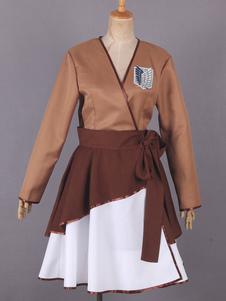 Нападение на Титан реконструкции корпуса Крылья свободы Лолита кимоно платье Аниме косплей костюм Хэллоуин