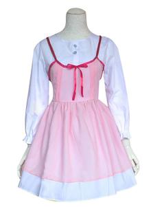 Costume Carnevale La bugia In April Miyazono Kawori Cosplay Costume vestito rosa
