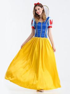 Vestido longo de princesa de fantasias de Halloween femininas com arnês Halloween