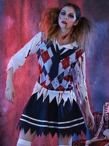 Disfraz Carnaval Traje de halloween traje escuela chica mujer con lazo Halloween Carnaval