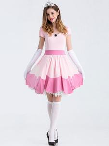 Розовый Супер Марио Bros Skater платье костюм Хэллоуин