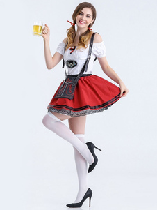 Oktoberfest sensual vermelho Girls'costumes Halloween