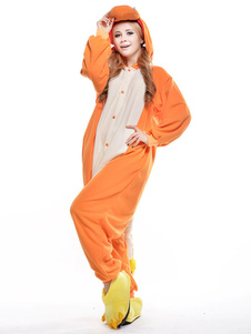 Fantasia de Animal bonito Holloween macacão Pokemon Charmander pijama feminino Halloween