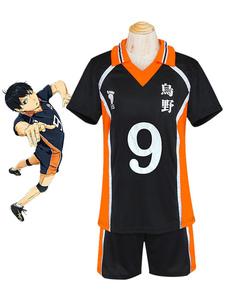 Haikyuu! Кагеяма Tobio косплей костюм №9 Джерси Хэллоуин
