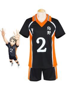 Haikyuu !! Sugawara Koushi Traje Cosplay No. 2 Jersey Halloween 2020