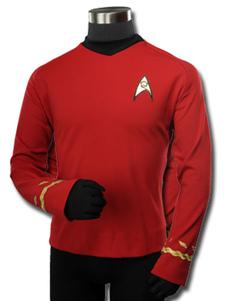 Звездный путь Монтгомери Скотт косплей костюм с длинным рукавом рубашка Хэллоуин