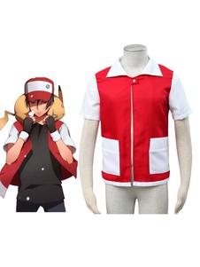 جيب الوحش pokmon خاص أحمر معطف تأثيري حلي هالوين