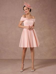 Короткое свадебное платье из розового с сатинированным сатином Vintage Summer Wedding Dresses 2020 Короткое платье для коктейля