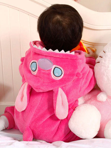 Kigurumi منامة غرزة Onesie الصغار الوردي الفانيلا ملابس النوم زي هالوين