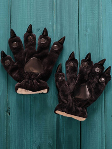 Kigurumi пижамы Черный коготь медведь Onesie перчатки фланелевой Kigurumi косплей костюм для женщин Хэллоуин