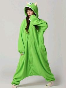 Disfraz Carnaval Kigurumi mono pijama Toy Story Alien traje verde la ropa de dormir de franela adultos ojo tres Halloween Carnaval