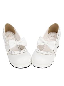 Zapatos de lolita blancos de corazón