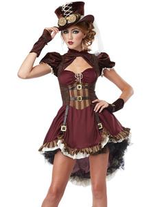 Disfraz Carnaval Traje de pirata de las mujeres traje Vintage trajes Halloween Carnaval
