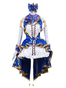 La divisa da palcoscenico del costume cosplay di Shibuya Rin delle ragazze di Cenerentola Idolmaster Halloween