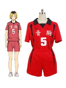 Haikyuu!!!! Nekoma alta Kuroo Tetsurou Cosplay Fantasia n º 5 voleibol Jersey Halloween