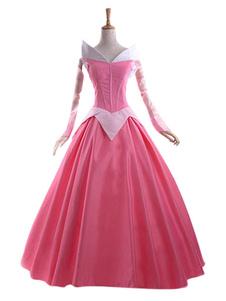 Диснея Спящая красоты принцесса Аврора шиповник Роза косплей костюм Хэллоуин
