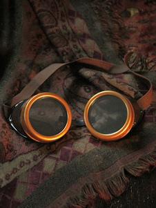 Halloween Steampunk Vintage óculos marrom acessório do traje Halloween