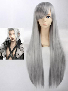Carnaval Peluca de Cosplay Final Fantasy VII Sephiroth Halloween