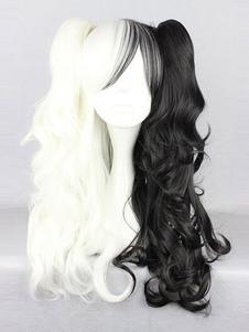 Danganronpa Monokuma Cosplay Wig Twintail Hairstyle Halloween