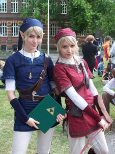Carnaval La leyenda de Zelda Link Cosplay traje azul versión Halloween
