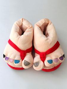 Kigurumi пижамы Рождества многоцветная Тапочки Обувь костюм аксессуары Хэллоуин