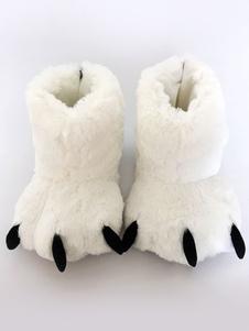 Kigurumi пижамы белый медведь когти Тапочки Обувь костюм аксессуары Хэллоуин