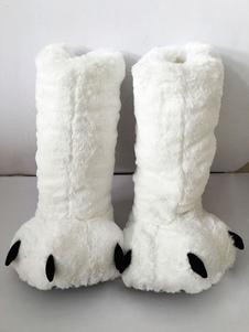 Kigurumi بيجامة الأبيض الدب مخالب الشتاء الأحذية زينة حلي هالوين