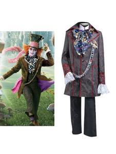 Disfraz Carnaval Vestido Alice in Wonderland de poliéster para adultos estilo masculino para Halloween Halloween Carnaval