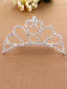 Pente de cabelo prata princesa Tiara Ballet dança frisado acessórios de cabelo do partido para crianças