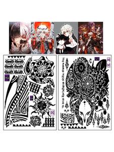 Carnaval Tokio Ghoul Uta Cosplay Anime temporal tatuaje Halloween