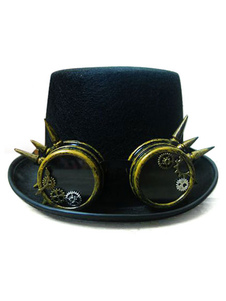 Disfraz Carnaval Disfraz Steampunk para fiesta para adultos con gorra Halloween Carnaval