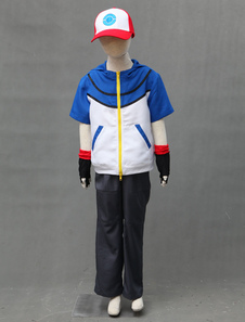 Carnevale Costume Cosplay di Giochi 2020 Pocket Monster Pokemon Go Ash Ketchum Costume Cosplay per bambini Halloween